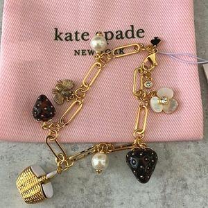 🍓Kate spade Picnic Perfect charm bracelet